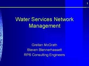 1 Water Services Network Management Grellan Mc Grath