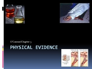 OConnorChapter 3 PHYSICAL EVIDENCE Common types of physical