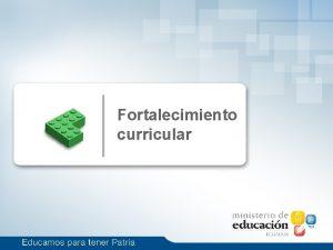 Fortalecimiento curricular reas de fortalecimiento curricular Bachillerato General
