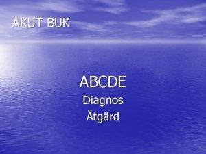 AKUT BUK ABCDE Diagnos tgrd A Andningsvgar Syrgas
