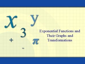 Exponential Functions and Their Graphs and Transformations Warm