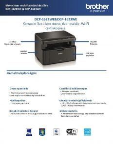 Mono lzer multifunkcis kszlk DCP1622 WE DCP1623 WE