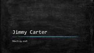 Jimmy Carter March 29 2018 SS 8 H