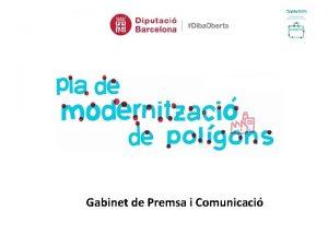 Gabinet de Premsa i Comunicaci Projectes Especfics 1