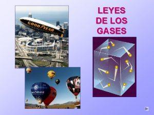 NDICE LEYES DE LOS GASES NDICE Un gas