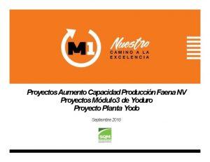 Proyectos Aumento Capacidad Produccin Faena NV Proyectos Mdulo