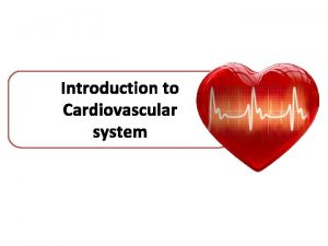 Introduction to Cardiovascular system Cardiovascular system Also called