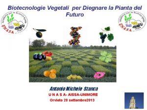 Biotecnologie Vegetali per Diegnare la Pianta del Futuro