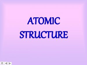 ATOMIC STRUCTURE ATOMIC STRUCTURE 1 2 3 4