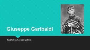 Giuseppe Garibaldi Olasz katona hadvezr politikus Giuseppe Garibaldi