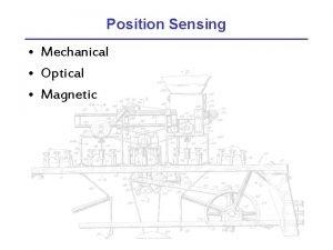 Position Sensing Mechanical Optical Magnetic Mechanical Sensing Microswitch