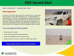 PDO Second Alert Date 10 06 2018 Incident