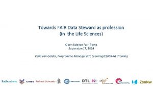 Towards FAIR Data Steward as profession in the