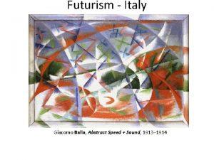 Futurism Italy Giacomo Balla Abstract Speed Sound 1913