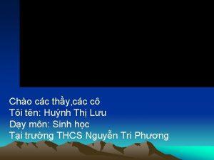 Cho cc thy cc c Ti tn Hunh