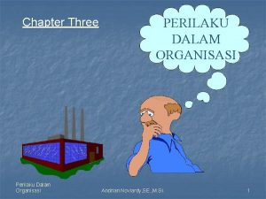 Chapter Three Perilaku Dalam Organisasi PERILAKU DALAM ORGANISASI