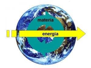 materia energia Cicli biogeochimici La materia circola neglifra