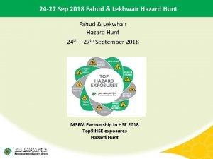 24 27 Sep 2018 Fahud Lekhwair Hazard Hunt