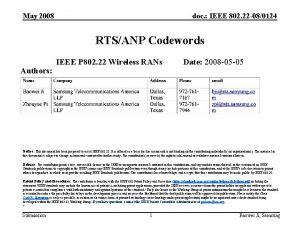 May 2008 doc IEEE 802 22 080124 RTSANP
