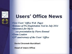 Users Office News New Users Office Web Pages