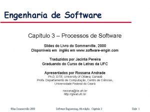 Engenharia de Software Captulo 3 Processos de Software