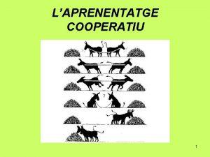 LAPRENENTATGE COOPERATIU 1 LAPRENENTATGE COOPERATIU Que s el