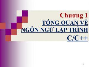 CHNG 1 Chng 1 TNG QUAN V NGN