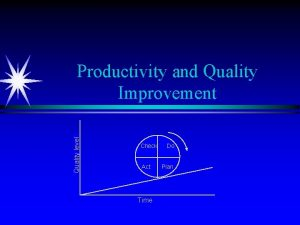 Quality level Productivity and Quality Improvement Check Act