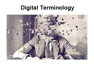 Digital Terminology Bitmap A representation consisting of rows