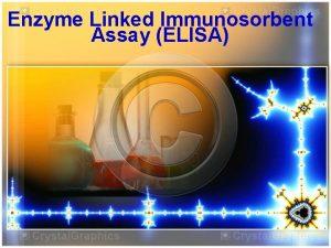 Enzyme Linked Immunosorbent Assay ELISA Enzyme Linked Immunosorbent