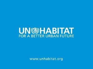 1 Urban Climate and Mobility Urban Transportation Module