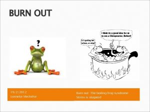 BURN OUT 1922012 Lonneke Mechelse Burn out The
