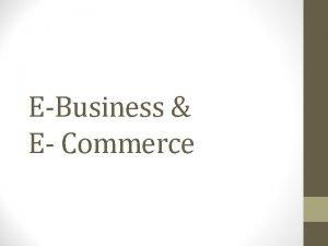 EBusiness E Commerce Era DIGITAL 1 Era Hidup