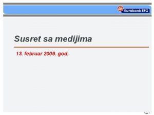 Susret sa medijima 13 februar 2009 god Page