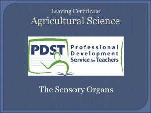 Leaving Certificate Agricultural Science The Sensory Organs Introduction
