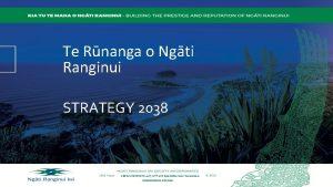 Te Rnanga o Ngti Ranginui STRATEGY 2038 166