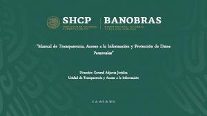 Manual de Transparencia Acceso a la Informacin y