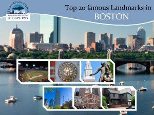 Top 20 famous Landmarks in BOSTON Top 20