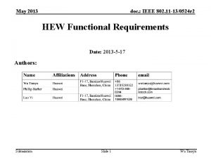 May 2013 doc IEEE 802 11 130524 r
