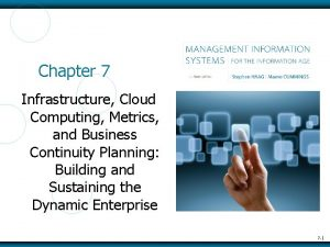 Chapter 7 Infrastructure Cloud Computing Metrics and Business