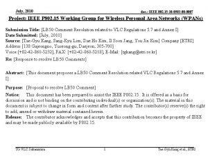July 2010 doc IEEE 802 15 10 0503
