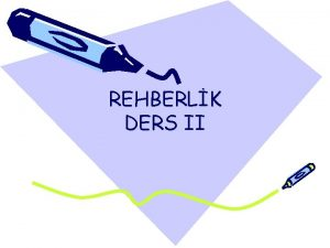 REHBERLK DERS II PDR ile ilgili yanl anlaylarn