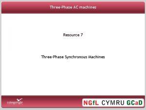 ThreePhase AC machines Resource 7 ThreePhase Synchronous Machines