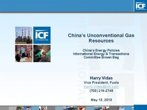Chinas Unconventional Gas Resources Chinas Energy Policies International