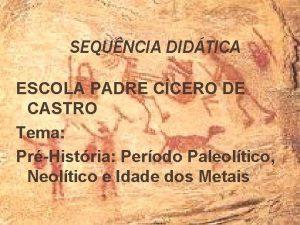 SEQUNCIA DIDTICA ESCOLA PADRE CCERO DE CASTRO Tema