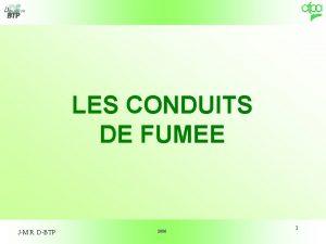 LES CONDUITS DE FUMEE JM R DBTP 2006
