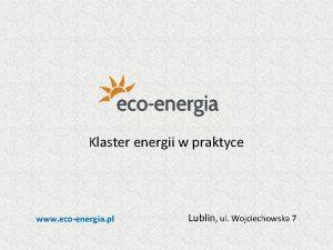 Klaster energii w praktyce www ecoenergia pl Lublin
