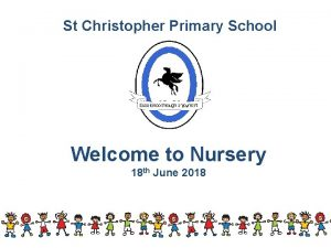 St Christopher Primary School Welcome to Nursery 18