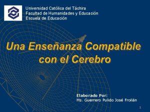 Universidad Catlica del Tchira Facultad de Humanidades y