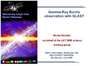 Gammaray Large Area Space Telescope GammaRay Bursts observation